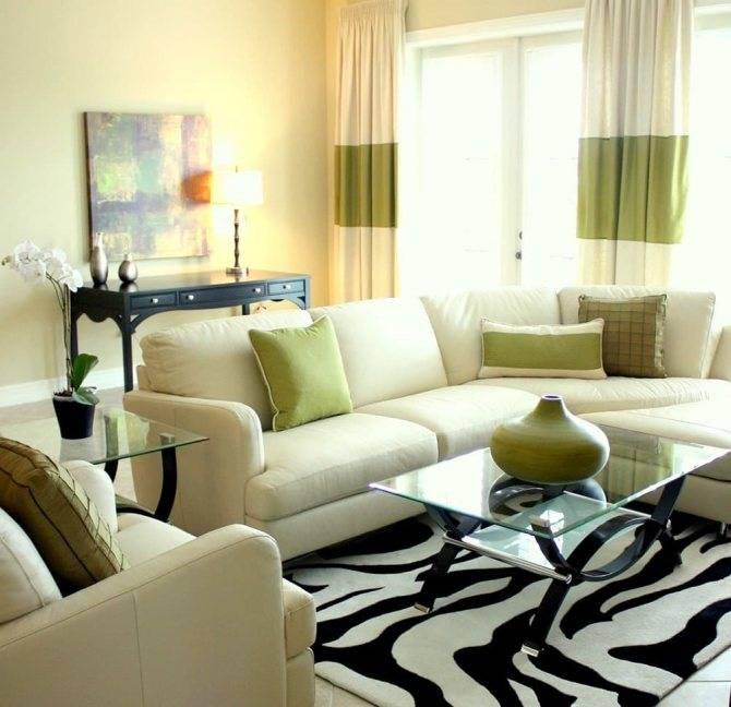 Фисташковый цвет в интерьере гостиной - дизан комнат