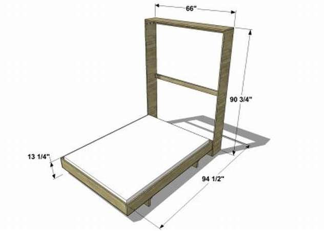 Как сделать шкаф - кровать своими руками: чертежи, фото, особенности подъемного механизма