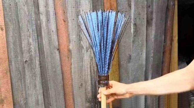 Инструкция, как сделать метлу - простые идеи создания метлы из подручных материалов (65 фото)