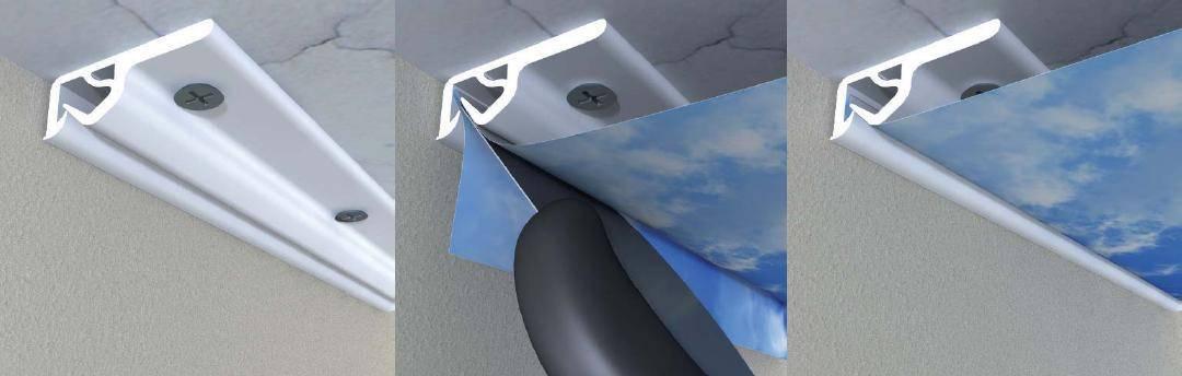 Профиль для натяжного потолка, какой лучше: алюминиевый, разделительный, пластиковый или гибкий, как подобрать виды багетов, размеры и сделать монтаж, смотрите фото и видео