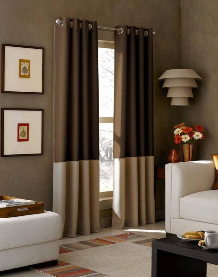 Шторы двух цветов: самые стильные и красивые варианты штор. особенности их выбора и применения