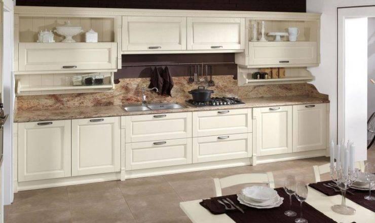 Дизайн кухни цвета слоновой кости