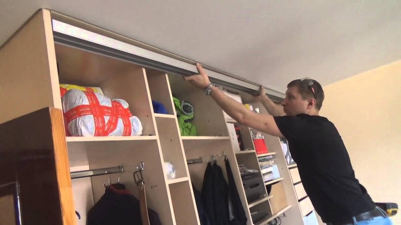 Как установить раздвижные двери в шкаф купе своими руками: видео, инструкция