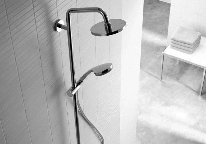 Штанга для душа в ванную: правила выбора и технология монтажа