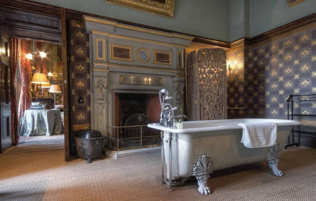 Американский стиль в интерьере спальни, кухни, гостиной, ванной (+31 фото)