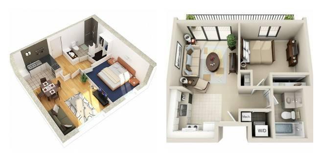 Площадь однокомнатной квартиры: какая средняя площадь стандартной однокомнатной квартиры? минимальная площадь жилой комнаты, особенности планировок и советы по выбору