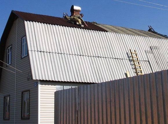Крыша из плоского шифера: пошаговая технология монтажа