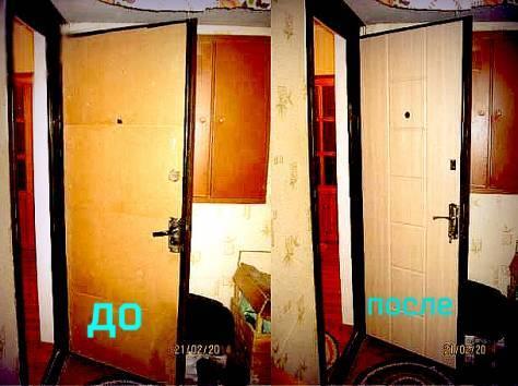 Обшивка входной двери панелями мдф, как подобрать материал и провести работы
