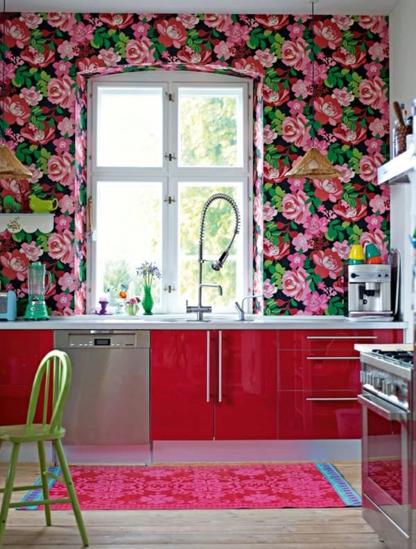 Цветы в интерьере: 175+ (фото) сочетаний - шторы / обои / стены