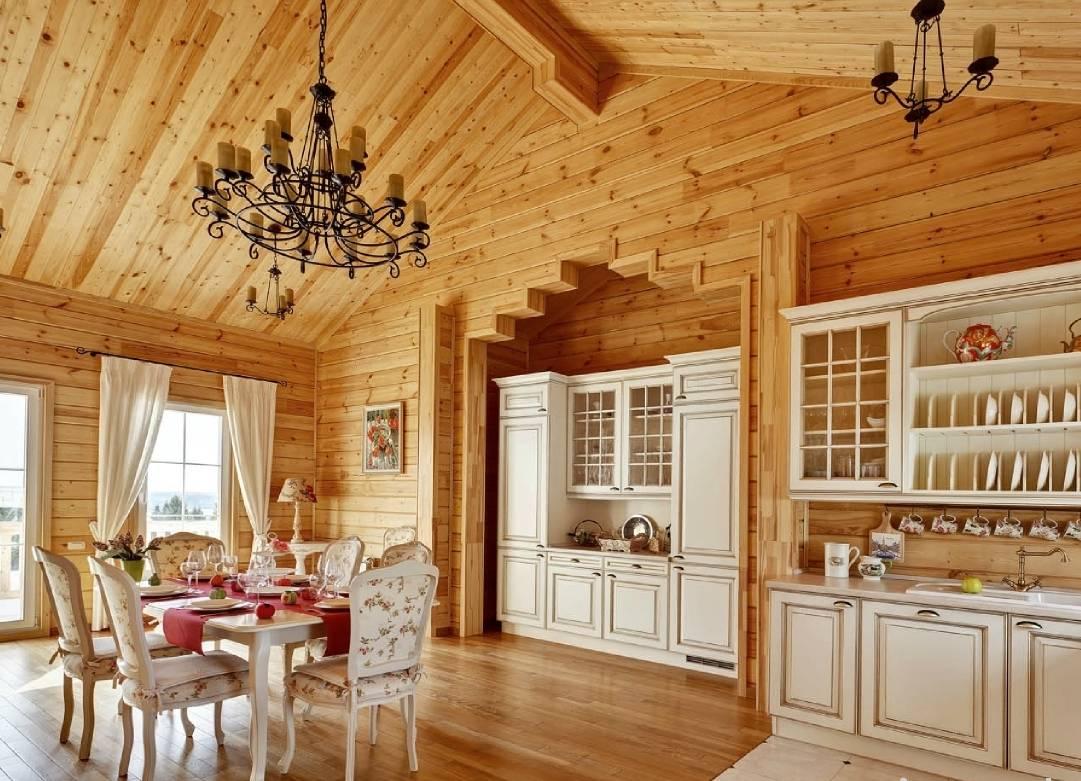 Интерьер дома из бруса: фото внутри, особенности оформления