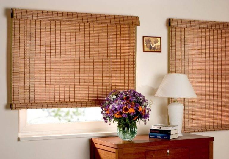 Рулонные шторы из бамбука: виды и достоинства, как крепить