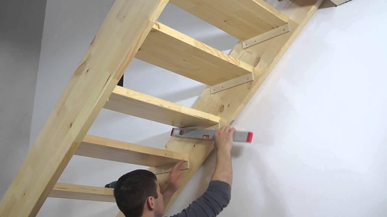 Делаем деревянную маршевую лестницу с поворотом своими руками