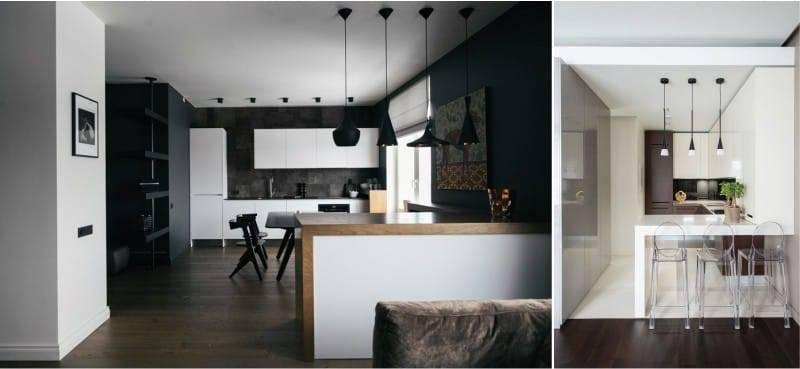 Тонкости дизайна кухни-гостиной в стиле «минимализм»
