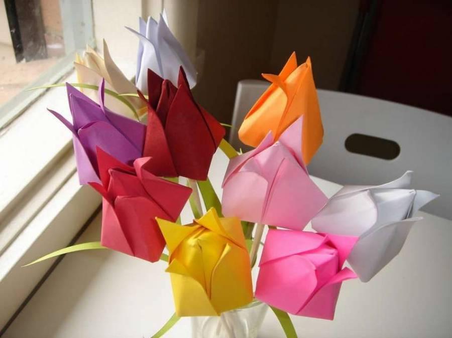 Листья из бумаги своими руками: идеи и пошаговые +65 фото