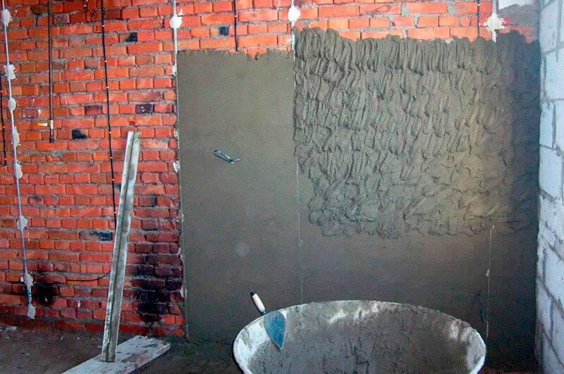 Как приклеить гипсокартон к стене гипсовой штукатуркой