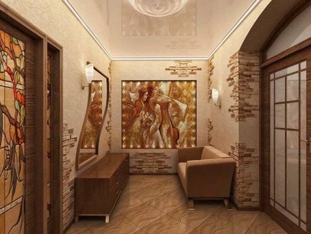 Чем отделать стены в коридоре кроме обоев  25 фото с примерами и этапами работ - все про гипсокартон