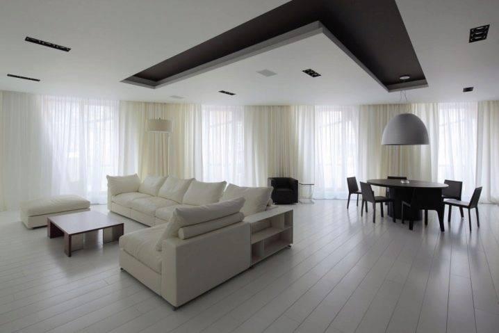 Современный дизайн потолков в зале: 75 фото красивых интерьеров