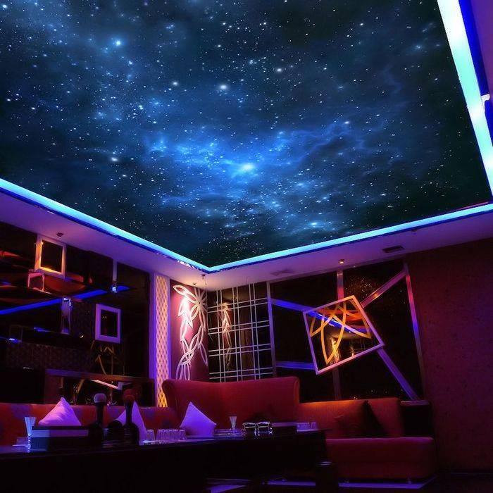 Потолок звездное небо: устройство и монтаж своими руками