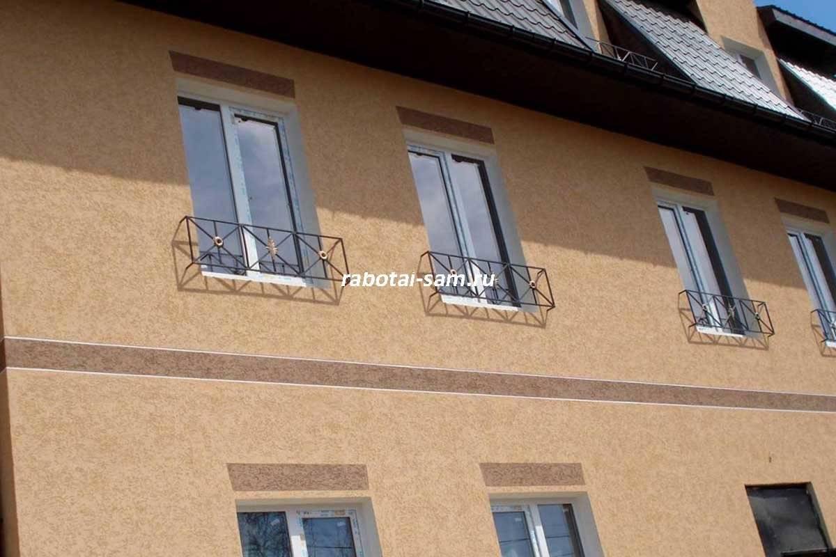 Фасадная краска по штукатурке для наружных работ: расход на 1м2 фасада, выбор окраски для внешних стен, покраска силиконовой, акриловой и другими типами, фото домов