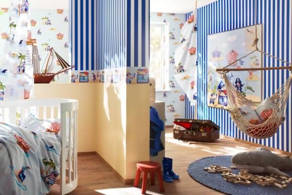 Комбинированная покраска стен в два и более цвета: 10 вариантов дизайна