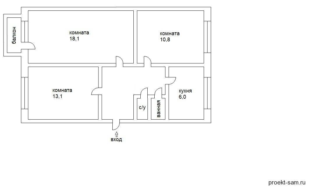 Планировка 3-х комнатной квартиры с планировкой в панельных домах. эффективное улучшение пространства + 160 фото