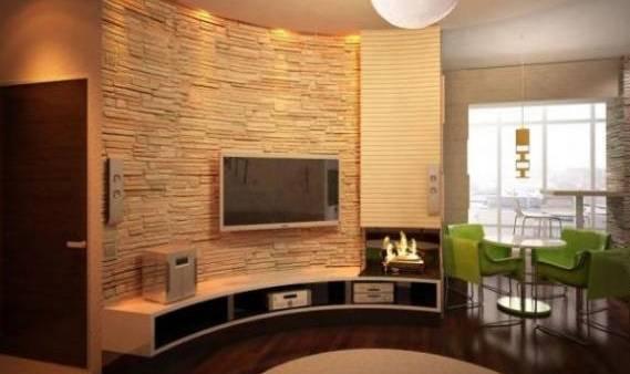 Декоративная гипсовая плитка: фото в интерьере, технология укладки