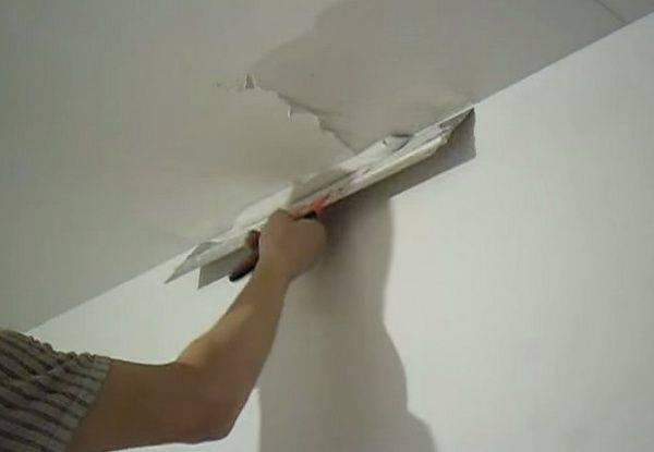 Шпаклевка потолка под покраску, как правильно шпаклевать своими руками: инструкция, видео и фото уроки