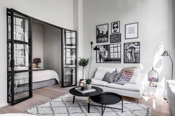 Дизайн однокомнатной квартиры с нишей: 75 практичных вариантов
