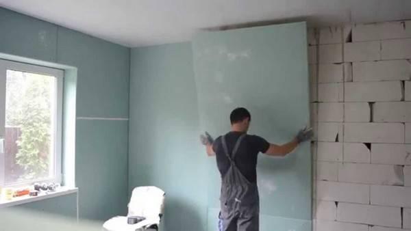 Как правильно клеить гипсокартон на стены клеем для гипсокартона