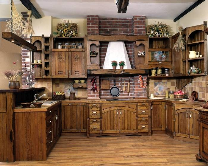 Кухня в стиле кантри: особенности дизайна, отделка и аксессуары (60 фото)   современные и модные кухни