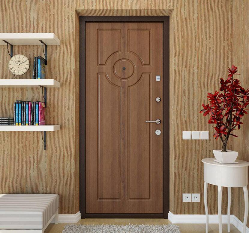 Декоративная мдф накладка на входную металлическую дверь: фото, установка своими руками » verydveri.ru