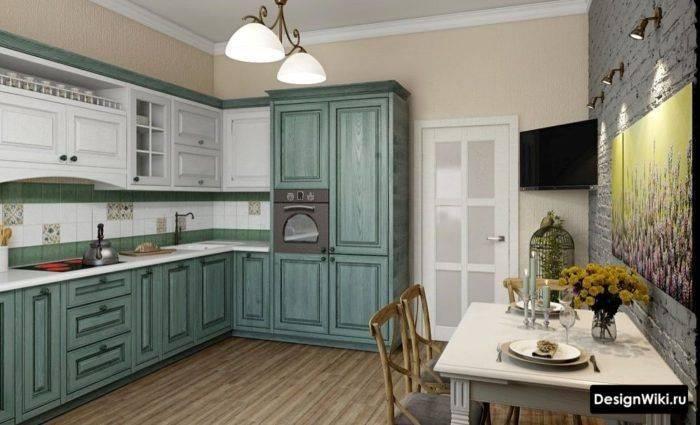 Кухня в сите Прованс: фото, сочетаем обои и шторы