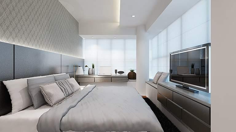 Потолок в спальне – создание гармоничного интерьера и правила стильного дизайна (125 фото)