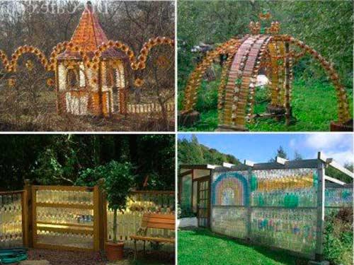 Строительство из стеклянных бутылок: как сделать из них забор, фундамент, стены, пол, либо изготовить баню или другую постройку своими руками