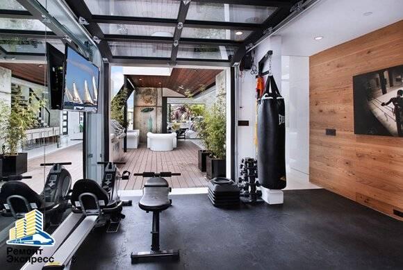 Спортзал дома в подвале, как оборудовать своими руками частный мини тренажерный зал для фитнеса
