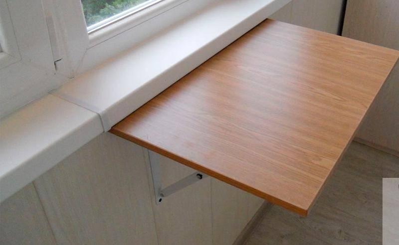 Откидной стол своими руками для лоджии, гаража и кухни: чертежи + фото