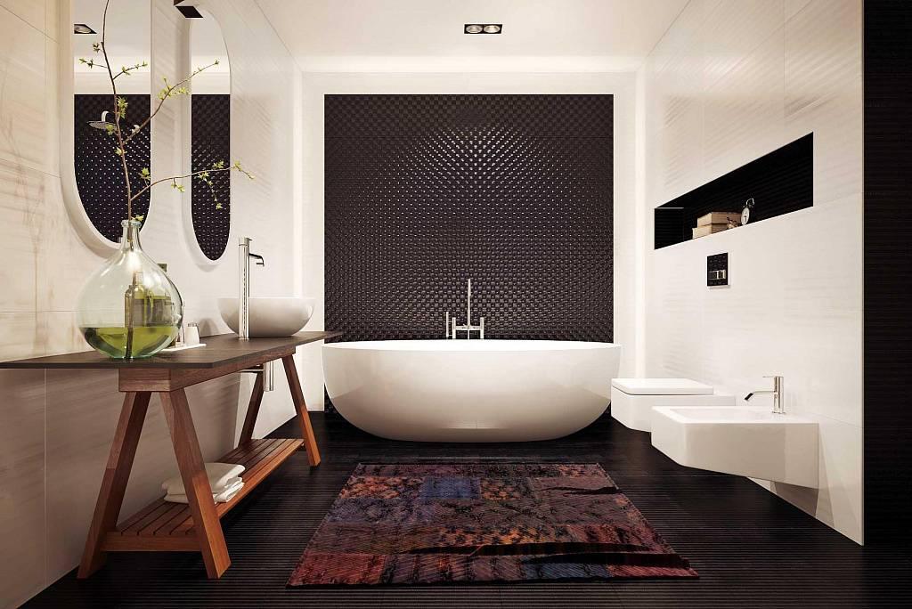 Использование мозаики в интерьере ванной комнаты