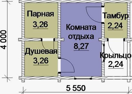 Проекты бань 4 на 4, 5 на 5, 3 на 3, 4х6: сделать своими руками