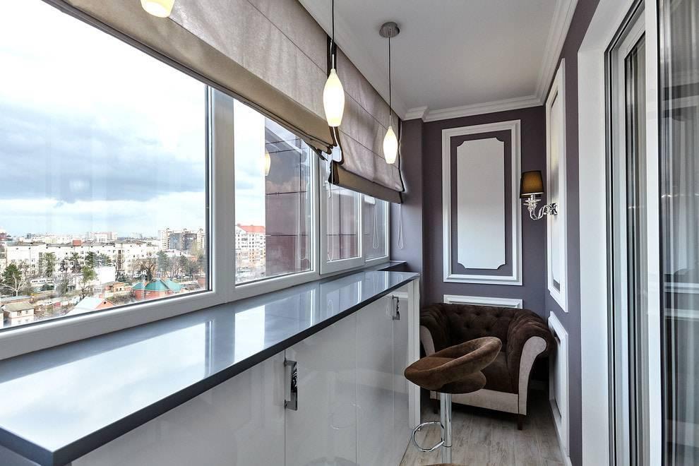Обои на балконе или лоджии: какие можно клеить, выбор цвета, идеи дизайна, фото в интерьере