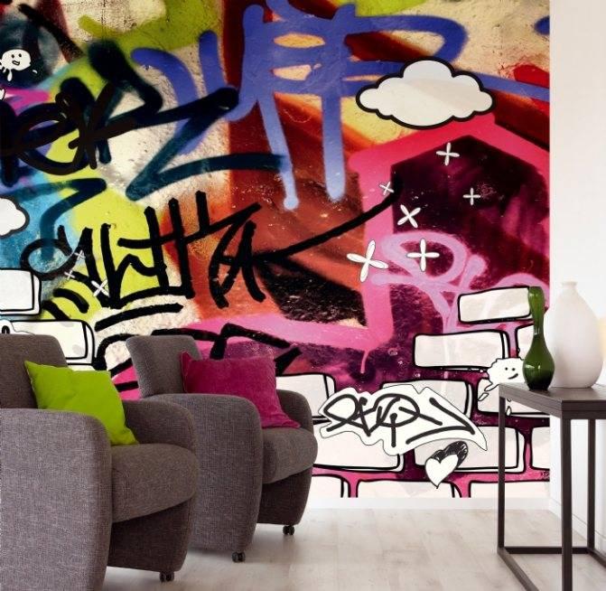 50 фото с интересными вариантами рисунков на стене в квартире своими руками
