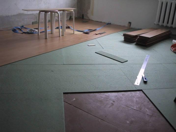 Укладка ламината на бетонном полу — как стелить своими руками