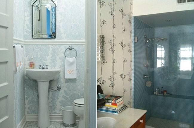 Как правильно подобрать обои для ванной комнаты
