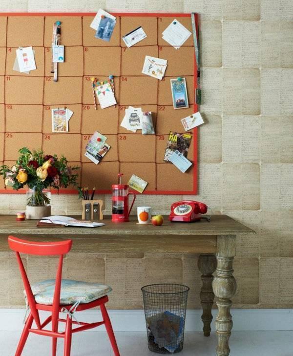 Доска для заметок и записей пробковая на стену, как сделать своими руками
