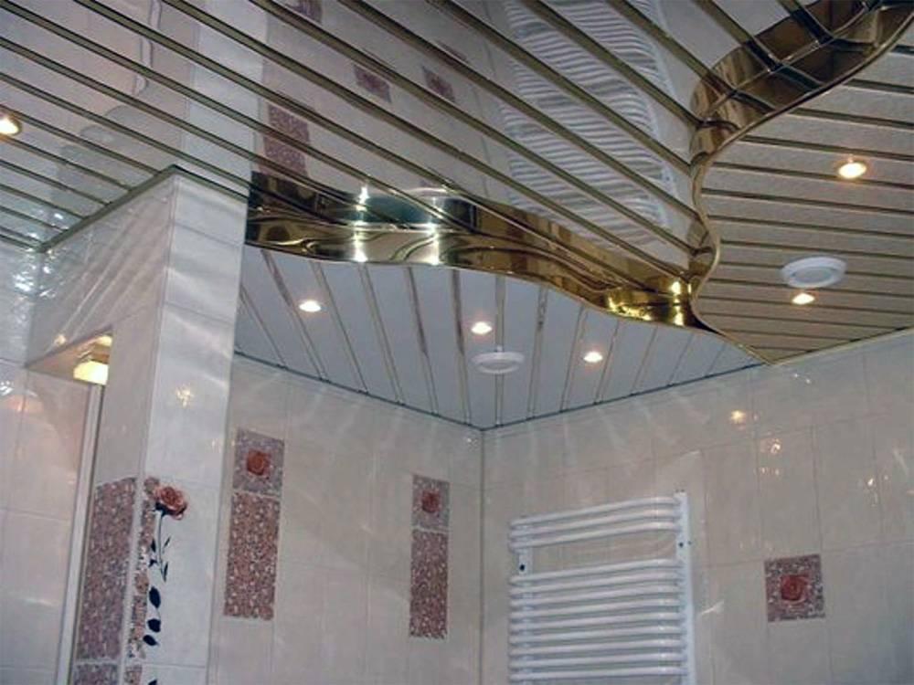 Реечный потолок в ванной комнате: виды, как установить своими руками