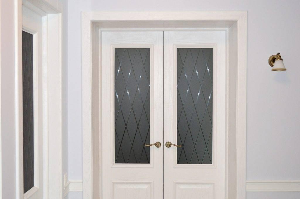 Двухстворчатые межкомнатные двери: размеры, фото, установка