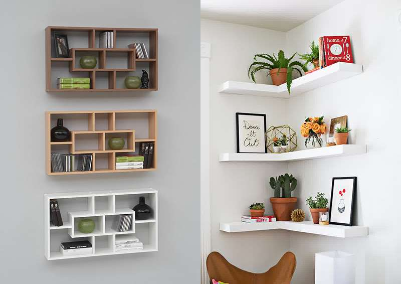 Полки на стену - самые оригинальные идеи дизайна и стиля полок!
