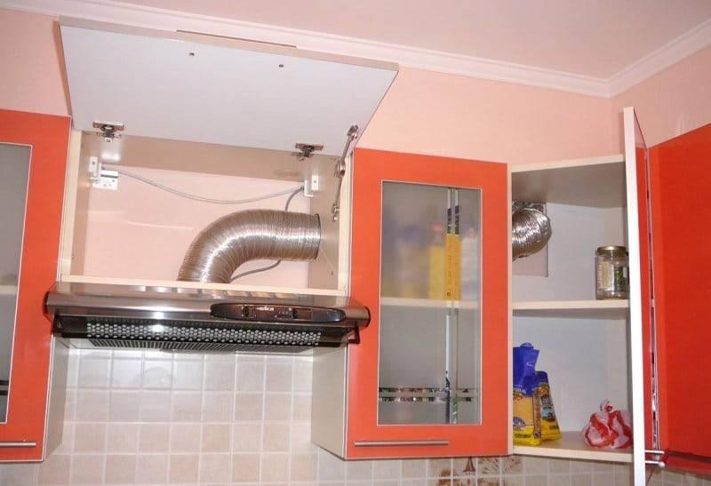 Как спрятать вентиляционную трубу (гофру) от вытяжки на кухне под натяжной потолок или гипсокартон