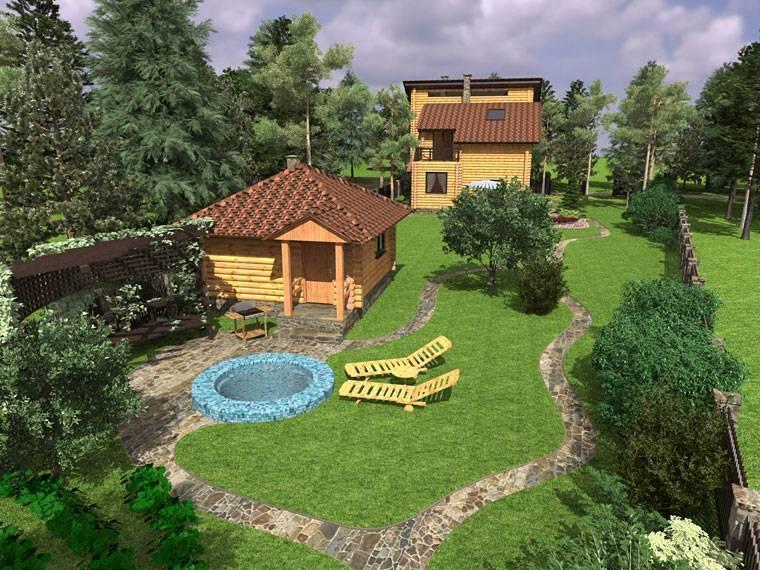 Смелое сочетание: дом с баней под одной крышей