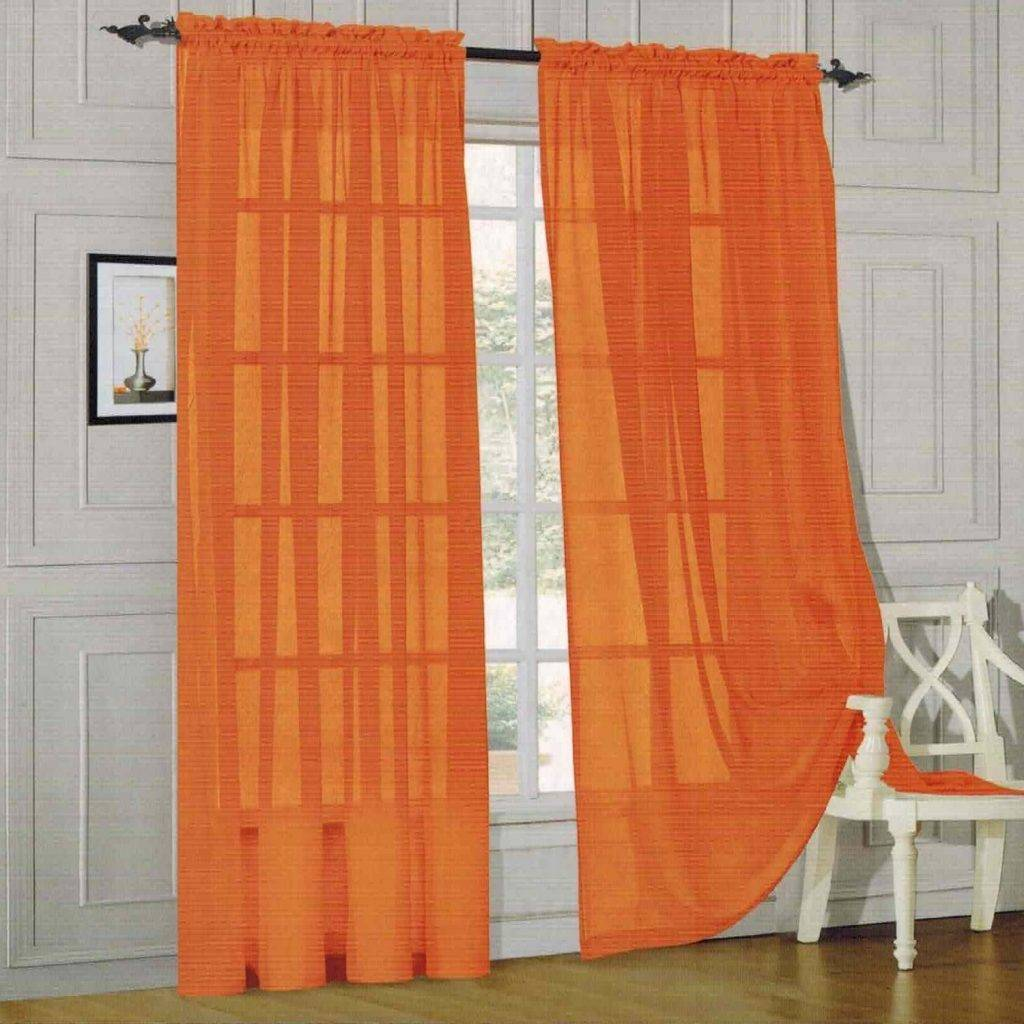 Оранжевые шторы - 90 фото вариантов идеального сочетания дизайна