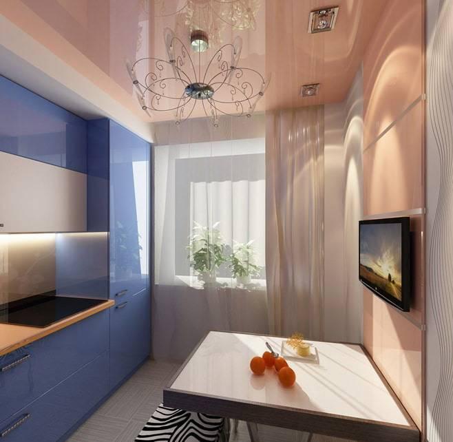 Какое выбрать освещение на кухне с натяжным потолком? (+35 фото вариантов)
